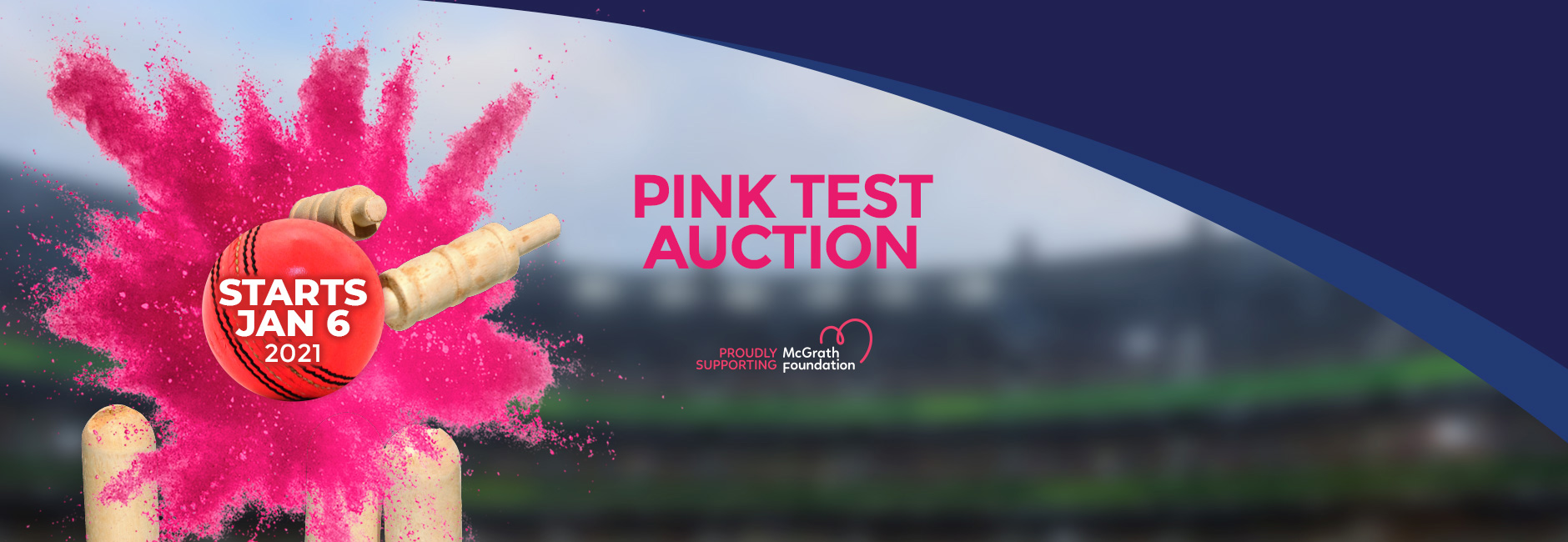 McGrath Foundation Charity Auction - Pink Test 2021