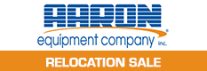 Aaron Equipment - Warehouse Relocation Sale & Clearance